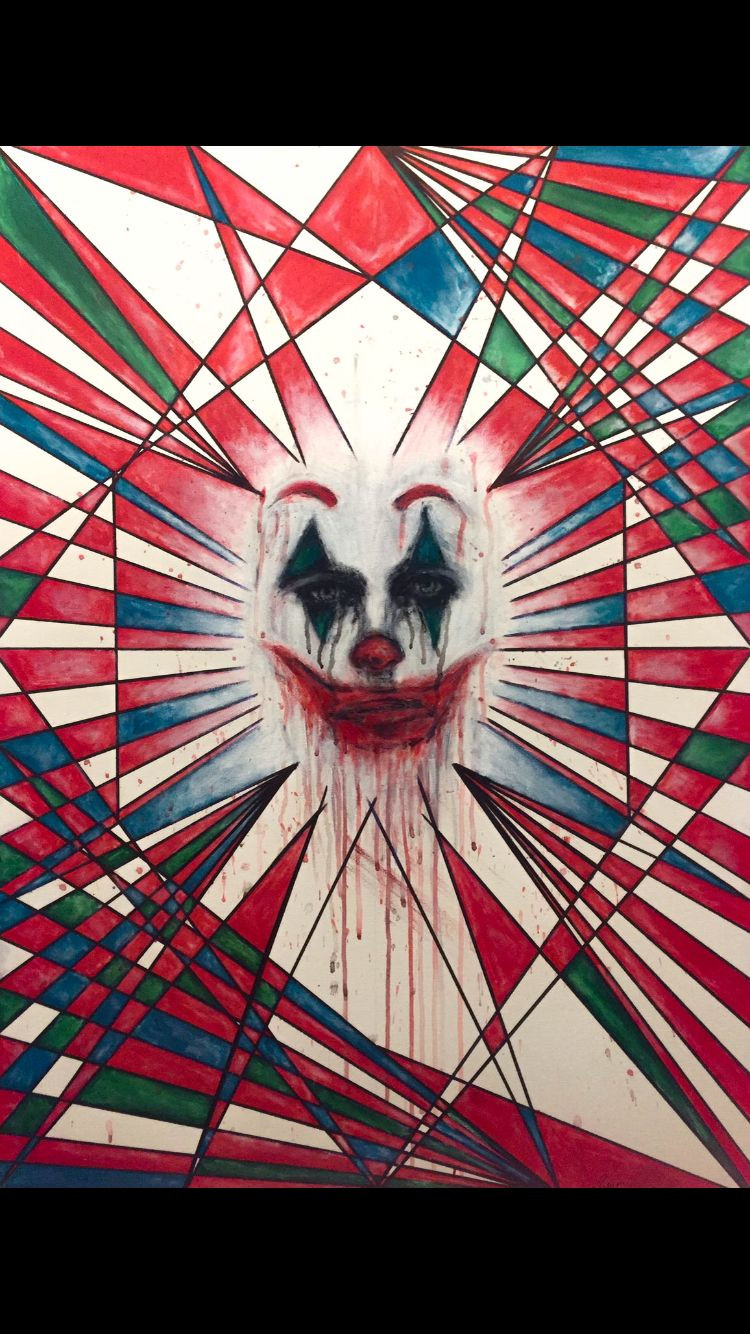 """ In the Mind of Joker "" - Acrilico su Tela 90x65<br />Marussa Giovinazzo"