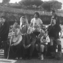 """I protagonisti di """"A tor bella monaca non piove mai"""" con il regista Marco Bocci.<br />Libero De Rienzo, Andrea Sartoretti, Fulvia Lorenzetti, Antonia Liskova, Giorgio Colangeli, Lorenza Guerrieri, Giordano De Plano."""